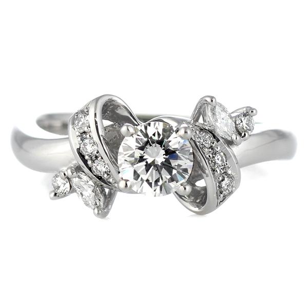 婚約指輪 ダイヤモンド 婚約指輪 ダイヤモンド ダイヤ リング エンゲージリング K18ホワイトゴールド SIクラス 0.30ct 鑑定書付 【DEAL】