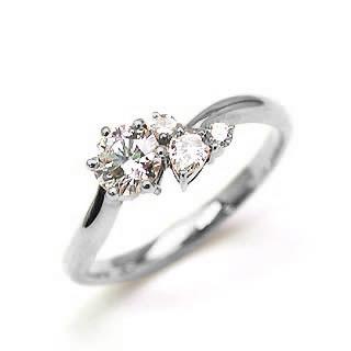 婚約指輪 ダイヤモンド ダイヤ リング エンゲージリング プラチナ900 SIクラス 0.30ct 鑑定書付 【DEAL】