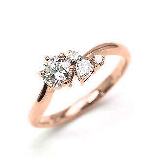 婚約指輪 ダイヤモンド ダイヤ リング エンゲージリング K18ピンクゴールド VVS1クラス 0.20ct 鑑定書付 【DEAL】