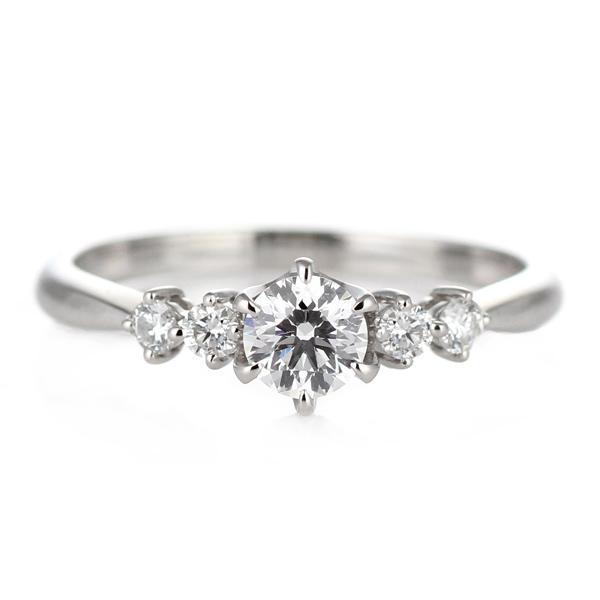 婚約指輪 ダイヤモンド ダイヤ リング エンゲージリング K18ホワイトゴールドVSクラス 0.20ct 鑑定書付【DEAL】