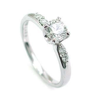 婚約指輪 ダイヤモンド ダイヤ リング エンゲージリング K18ホワイトゴールドVSクラス 0.30ct 鑑定書付 【DEAL】