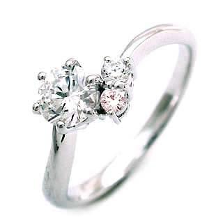 婚約指輪 エンゲージリング プラチナ ピンクダイヤモンド ダイヤ リング SIクラス0.20ct 鑑定書付 【DEAL】