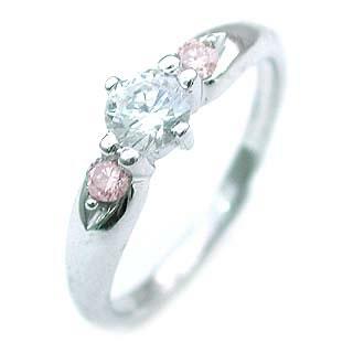 婚約指輪 エンゲージリング ホワイトゴールド ピンクダイヤモンド ダイヤ リング VVS1クラス0.20ct 鑑定書付 【DEAL】