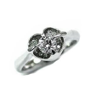 婚約指輪 エンゲージリング ホワイトゴールド ダイヤモンド ダイヤ リング SIクラス 0.30ct 鑑定書付 末広 スーパーSALE【今だけ代引手数料無料】