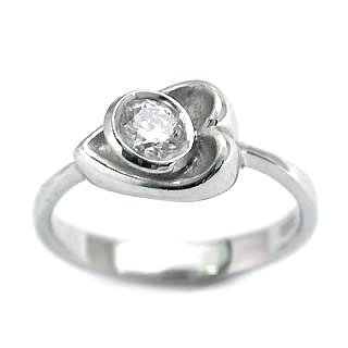 婚約指輪 エンゲージリング ホワイトゴールド ダイヤモンド ダイヤ リング VVS1クラス 0.20ct 鑑定書付 【DEAL】