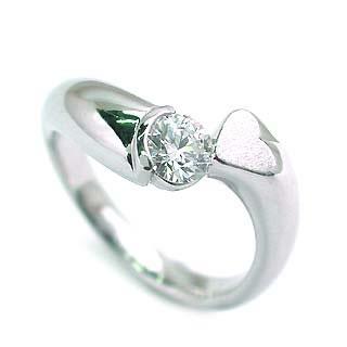 婚約指輪 エンゲージリング ホワイトゴールド ダイヤモンド ダイヤ リング SIクラス 0.20ct 鑑定書付 【DEAL】