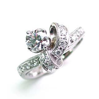 婚約指輪 エンゲージリング プラチナ ダイヤモンド ダイヤ リング VVS1クラス 0.30ct 鑑定書付 末広 スーパーSALE