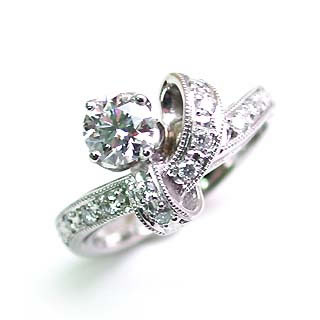 婚約指輪 エンゲージリング ホワイトゴールド ダイヤモンド ダイヤ リング VVS1クラス 0.30ct 鑑定書付 【DEAL】 末広 スーパーSALE