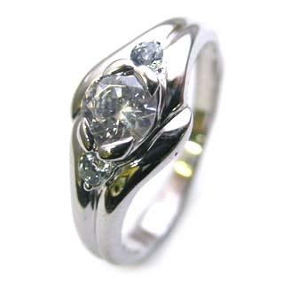 ( 婚約指輪 ) ダイヤモンド エンゲージリング( 3月誕生石 ) アクアマリン 末広 スーパーSALE