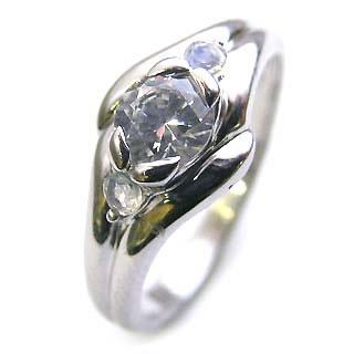 ( 婚約指輪 ) ダイヤモンド エンゲージリング( 6月誕生石 ) ムーンストーン 末広 スーパーSALE