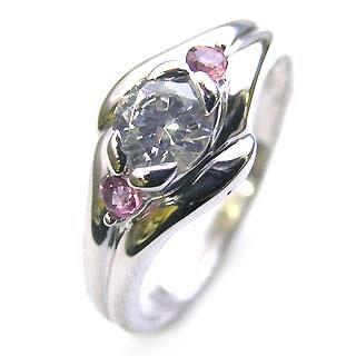 10月誕生石 ( 婚約指輪 ) ダイヤモンド エンゲージリングピンクトルマリン 末広 スーパーSALE