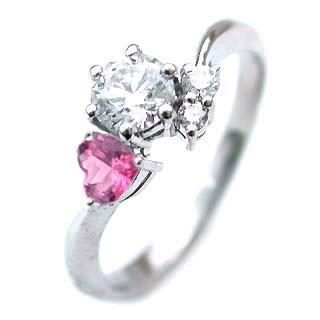 10月誕生石 CanCam掲載( 婚約指輪 ) ダイヤモンド エンゲージリングピンクトルマリン