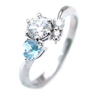 CanCam掲載( 婚約指輪 ) ダイヤモンド エンゲージリング( 11月誕生石 ) ブルートパーズ 末広 スーパーSALE【今だけ代引手数料無料】