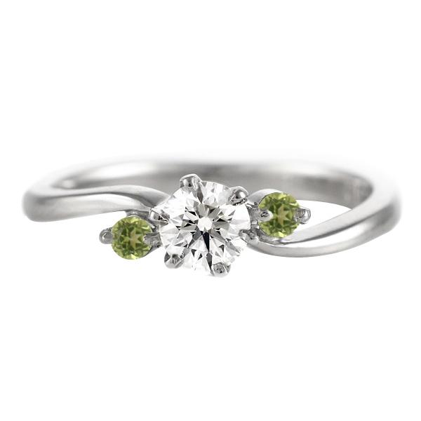 CanCam掲載( 婚約指輪 ) ダイヤモンド エンゲージリング( 8月誕生石 ) ペリドット 末広 スーパーSALE