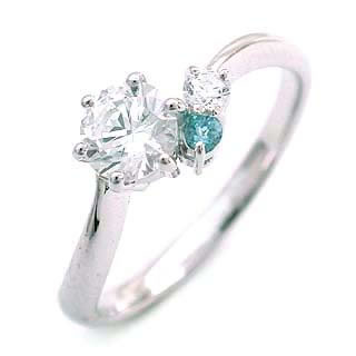 CanCam掲載( 婚約指輪 ) ダイヤモンド エンゲージリング( 3月誕生石 ) アクアマリン