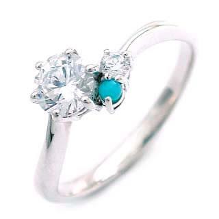 CanCam掲載( 婚約指輪 ) ダイヤモンド エンゲージリング( 12月誕生石 ) ターコイズ