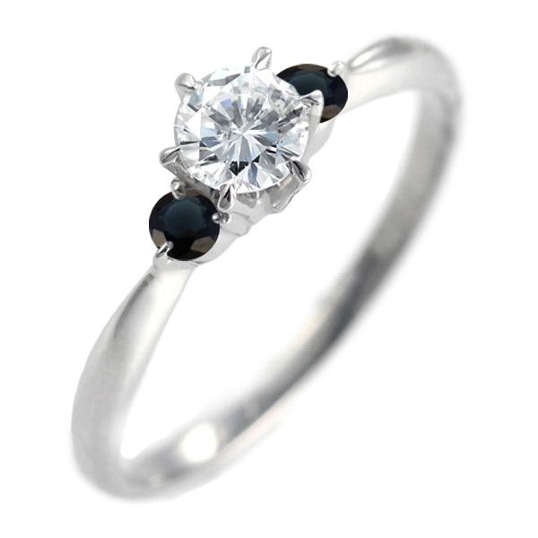 ( 婚約指輪 ) ダイヤモンド エンゲージリング( 9月誕生石 ) サファイア【DEAL】