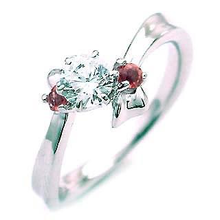 ( 婚約指輪 ) ダイヤモンド エンゲージリング( 1月誕生石 ) ガーネット 末広 スーパーSALE【今だけ代引手数料無料】