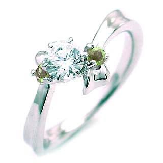 ( 婚約指輪 ) ダイヤモンド エンゲージリング( 8月誕生石 ) ペリドット 末広 スーパーSALE