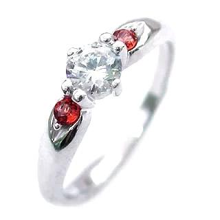 ( 婚約指輪 ) ダイヤモンド エンゲージリング( 1月誕生石 ) ガーネット 【DEAL】 末広 スーパーSALE