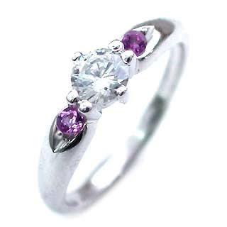 ( 婚約指輪 ) ダイヤモンド エンゲージリング( 2月誕生石 ) アメジスト 【DEAL】