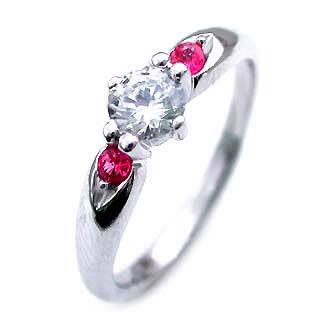 婚約指輪 ダイヤモンド エンゲージリング( 7月誕生石 ) ルビー 【DEAL】
