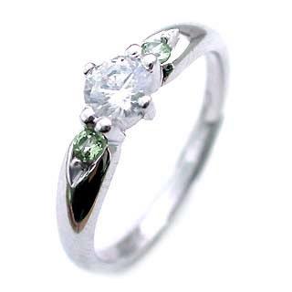 ( 婚約指輪 ) ダイヤモンド エンゲージリング( 8月誕生石 ) ペリドット 【DEAL】