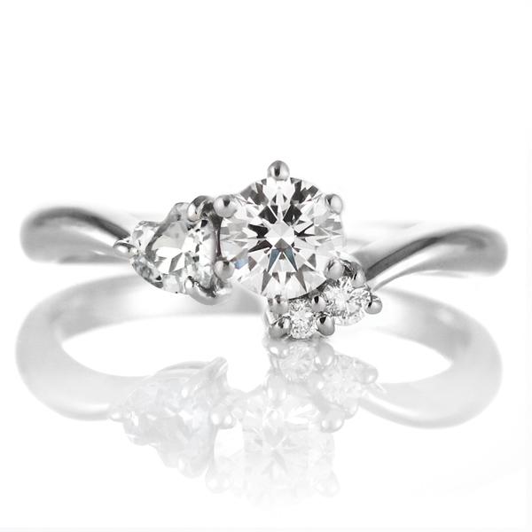CanCam掲載( 婚約指輪 ) ダイヤモンド エンゲージリング( 4月誕生石 ) ダイヤモンド