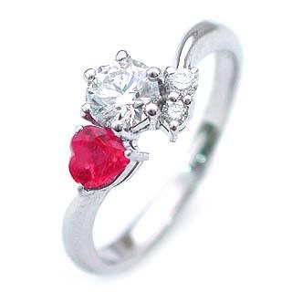 CanCam掲載( 婚約指輪 ) ダイヤモンド エンゲージリング( 7月誕生石 ) ルビー【DEAL】 末広 スーパーSALE