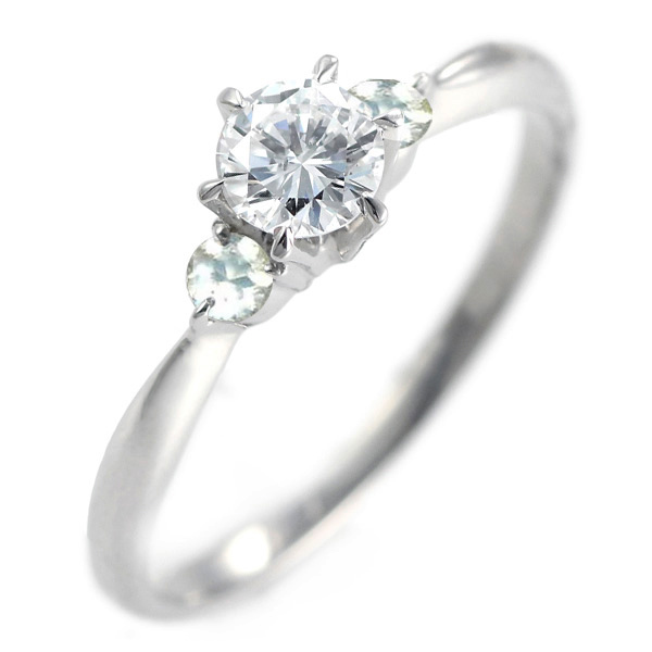 ( 婚約指輪 ) ダイヤモンド エンゲージリング( 6月誕生石 ) ムーンストーン【DEAL】