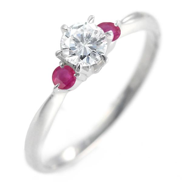 ( 婚約指輪 ) ダイヤモンド エンゲージリング( 7月誕生石 ) ルビー 末広 スーパーSALE【今だけ代引手数料無料】