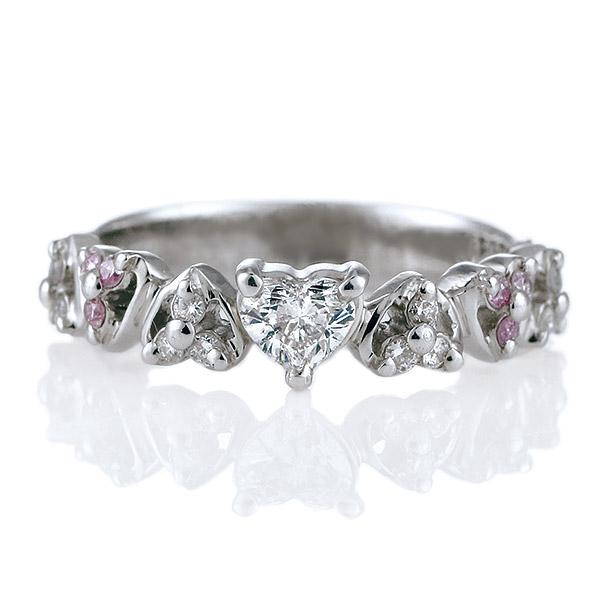 ハートシェイプ ピンクダイヤモンド ダイヤモンド プラチナ リング 婚約指輪 エンゲージリング 結婚記念 10周年 ギフト プレゼント【DEAL】