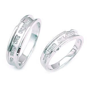 メンズリング ( K18WG )ダイヤモンドペアリング