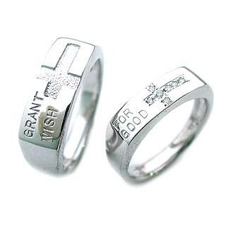 ( K18WG )ダイヤモンドペアリング