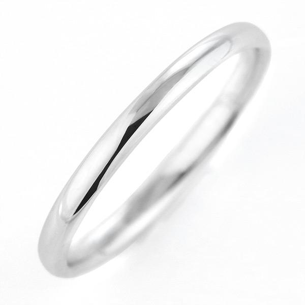 リング レディース ホワイトゴールド シンプル 細身 指輪 ストレート 人気 刻印無料 マリッジリング 結婚指輪 カップル 甲丸【DEAL】 末広 スーパーSALE