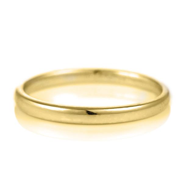 18金 結婚指輪 デザイン ストレート