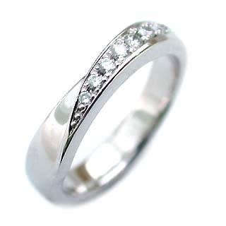 メンズリング プラチナ Pt ( Brand Jewelry ニナリッチ ) Pt ダイヤモンドペアリング 末広 スーパーSALE【今だけ代引手数料無料】