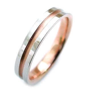 プラチナ リング プラチナ Pt ( Brand Jewelry ニナリッチ ) Pt ・K18ピンクゴールドペアリング