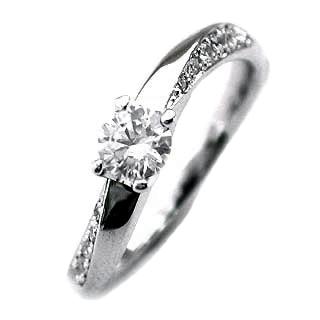 (Brand Jewelry fresco) Pt ダイヤモンドリング(婚約指輪・エンゲージリング)【DEAL】 末広 スーパーSALE