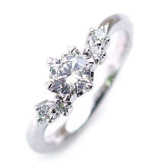 (Brand Jewelry fresco) Pt ダイヤモンドリング(婚約指輪・エンゲージリング) 【DEAL】