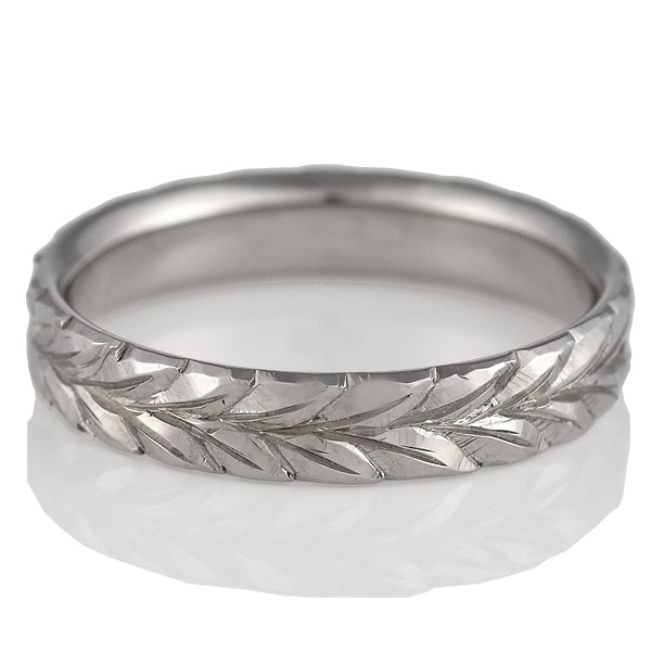 ( Brand Jewelry KAPILINA ) MAILE・K18ホワイトゴールドメンズペアリング