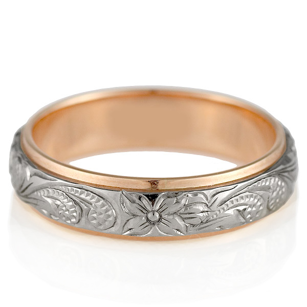 ( Brand Jewelry KAPILINA ) NALU・K18ホワイトゴールド・ピンクゴールドメンズペアリング