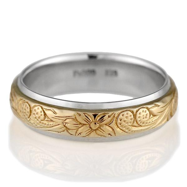 プラチナ リング ( Brand Jewelry KAPILINA ) MAULOA・プラチナ900・K18ピンクゴールドレディスペアリング