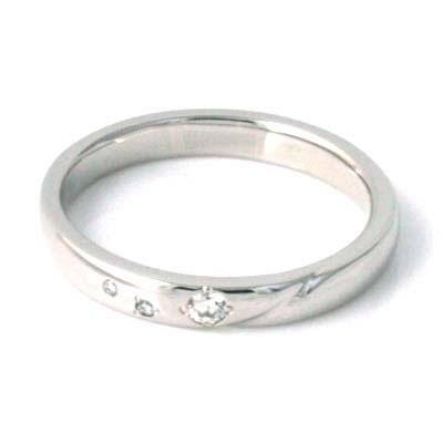 プラチナ Pt ( Brand Jewelry TwinsCupid ) プラチナ900ダイヤモンドレディスリング(ラッキースター)