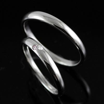 プラチナ Pt ( Brand Jewelry TwinsCupid ) プラチナ900ダイヤモンドペアリング(コンフェッティ)