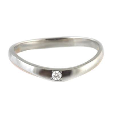 プラチナ Pt ( Brand Jewelry TwinsCupid ) プラチナ900 K14ピンクゴールドダイヤモンドレディスリング(パールシャワー) 末広 スーパーSALE【今だけ代引手数料無料】