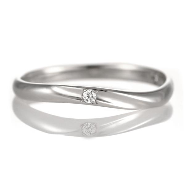 プラチナ Pt ( Brand Jewelry TwinsCupid ) プラチナ900ダイヤモンドレディスリング(ハッピーウェーブ)