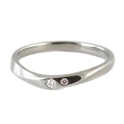 プラチナ Pt ( Brand Jewelry TwinsCupid ) プラチナ900ダイヤモンドレディスリング(ブーケトス)