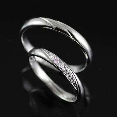 プラチナ Pt ( Brand Jewelry TwinsCupid ) プラチナ900ダイヤモンドペアリング(ミルキーウェイ)