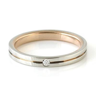 プラチナ Pt ( Brand Jewelry TwinsCupid ) プラチナ900ダイヤモンドレディスリング(ラブアロー)